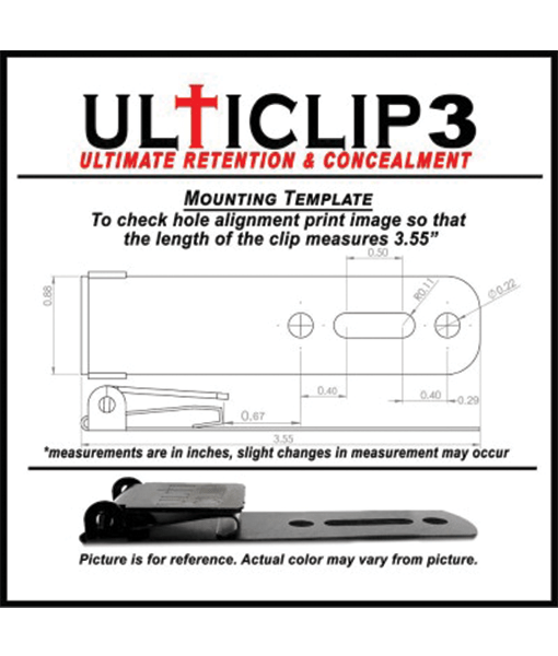 Ulticlip3 specs and illustration